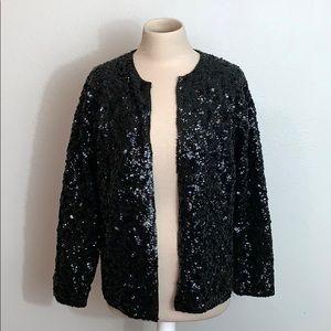 Vintage Black Sequin Jacket